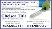 Chelsea Title Of The Nature Coast, Inc.