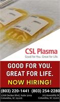 CSL Plasma - Columbia