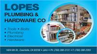 Lopes Plumbing & Hardware Company